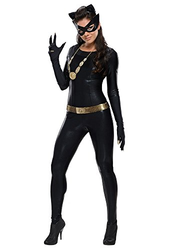 Plus Size Catwoman Costumes (Wonder Lingerie Plus Women's Black Catwoman Halloween Party Costume)