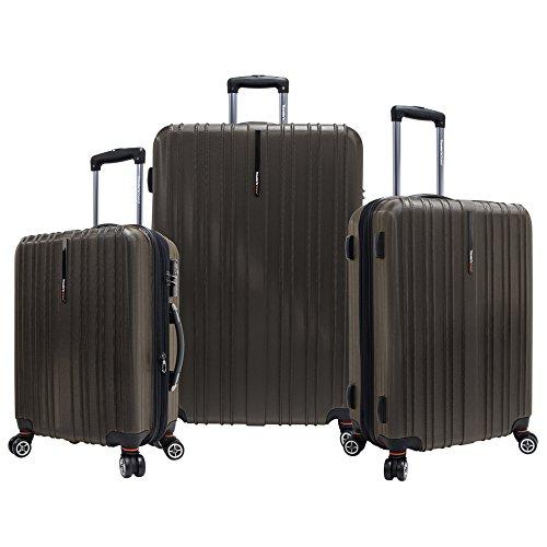 (Travelers Choice Tasmania Luggage Set, Large, 3-Piece, Dark)