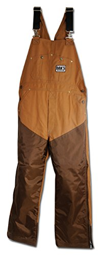Upland Brush Pants - Dan's Nylon Faced Bib Overalls, Made In USA (Large/26)