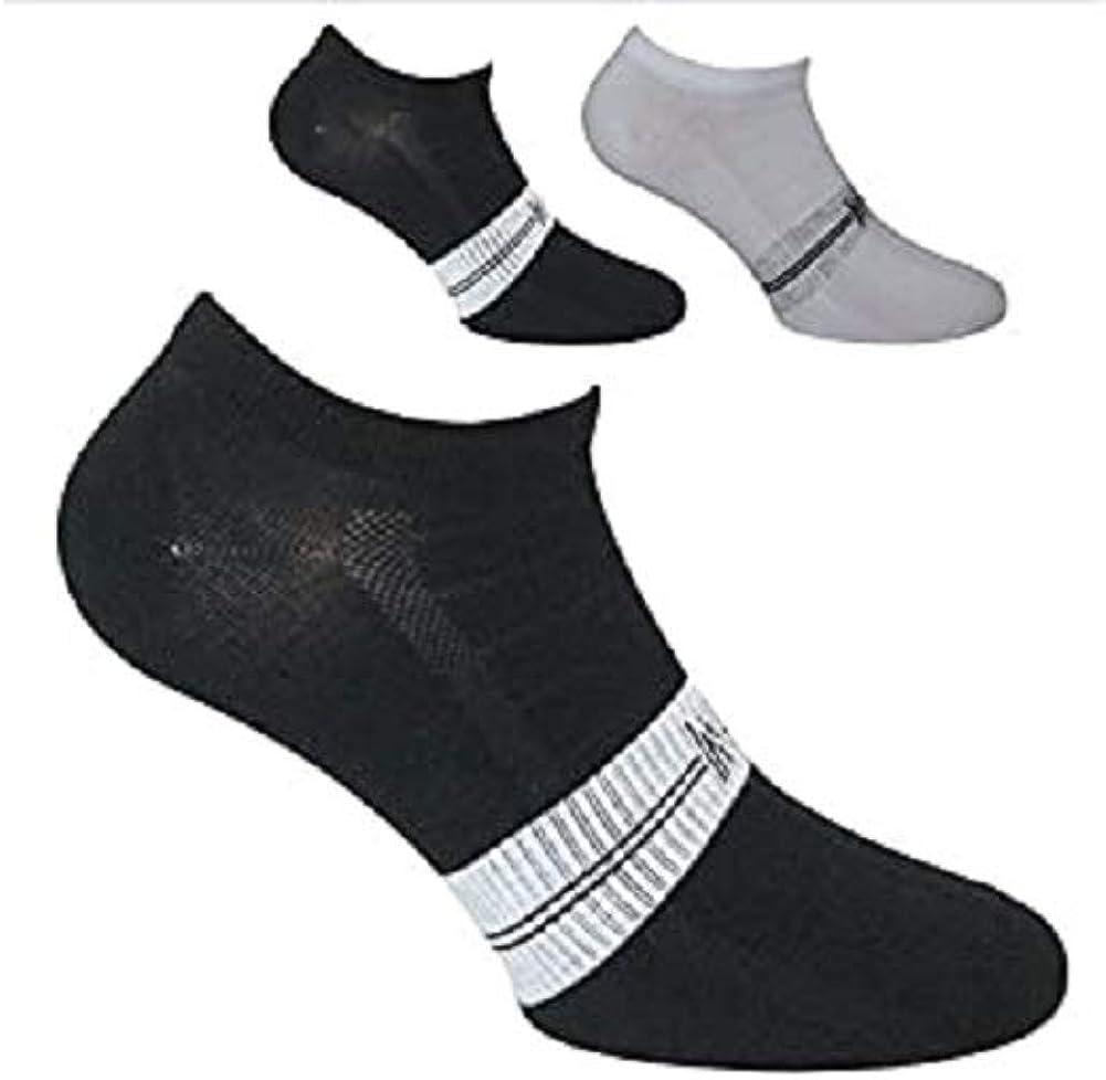 Norfolk Women\'s 2PK Jersey Viscose Low Cut Sock White/Black 8-10
