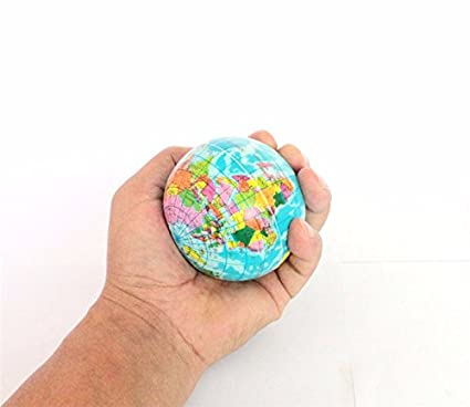 Buy new rubber ball world map foam earth globe hand wrist exercise new rubber ball world map foam earth globe hand wrist exercise stress relief squeeze ball gumiabroncs Gallery