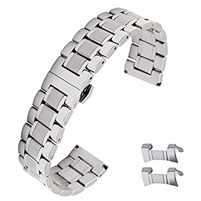 Stainless Steel Watch Bands Replacement Strap Clasp Strap Bands Strap Watchband Strap Wristband by WISLECT