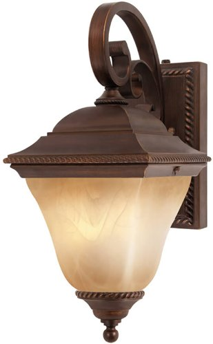 Meridian Outdoor Wall Lantern in Golden Bronze - Energy Star Size: Small