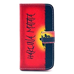 TL COCO FUN? Hakuna Sunset Pattern PU Leather Full Body Case with Screen Protector,Stylus and Stand for iPhone 5C