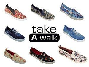 Ta En Promenad Womens Fashion Canvas Loafer Marinen Paisley