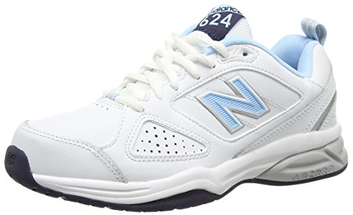 Multisport WoMen New 624 Indoor Wb4 White Blue Balance Shoes White w6t4R