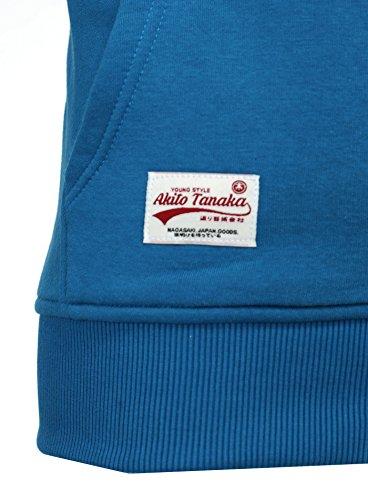Akito Pulls Gilet Capuche De Avec Homme Bleu Tanaka Veste Pull Éclair Fermeture Sweat pwxFprzq