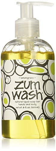 Silk Coconut Body Wash - Indigo Wild Zum Wash Natural Hand & Body Liquid Soap, Lemon Grass, 8 Fluid Ounces