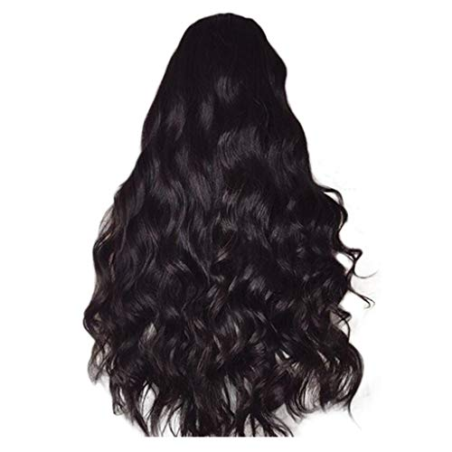 (VICCKI Brazilian Remy Human Hair Body Wave Lace Front Human Hair Wigs Black )