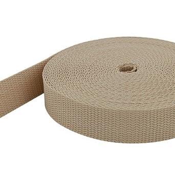 weiß 30mm breit UV 10m PP Gurtband 1,4mm stark