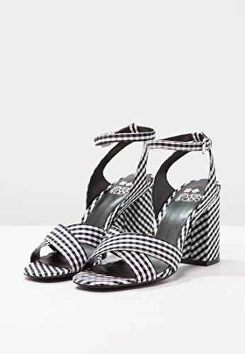 Blanco De negro amp;odd Tacones Sandalias Zapatos Y Fiesta Altos Bloque Even Mujer Cómodas Para Elegantes Tacón Grueso EHZWaq
