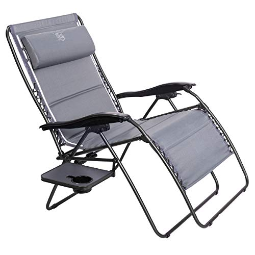 Timber Ridge Zero Gravity Patio Locking Lounge Chair Oversize XXL Padded Adjustable Recliner with Headrest Support 600lbs
