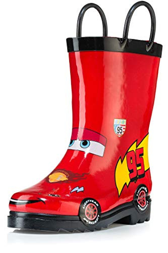 Disney Cars Kid's Lightening Mcqueen Boy's Red Rain Boots (Toddler/Little Kid) (8 M US Toddler)