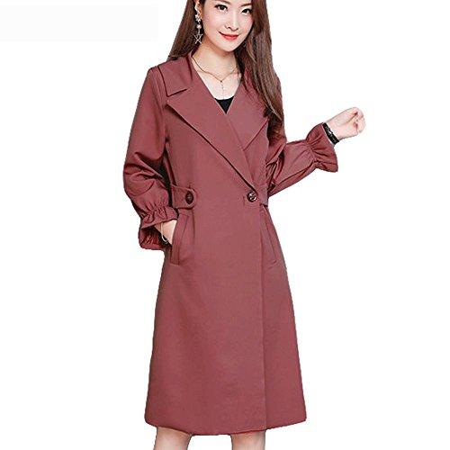 New Windbreaker Size Solid Slim Se Lady Coat Office Autumn Female Plus Thin 2017 Women To For Work He Winter Coats Go ZxrUqZ