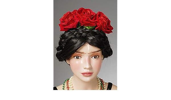Magic Box Diadema de Flores con Rosas Rojas Frida Kahlo Style para ...