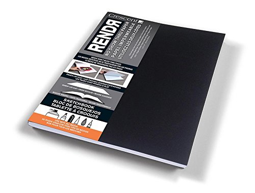 Crescent Creative Products 12-00020 Cardboard Co RENDR No Show Thru Lay Flat Sketch Book, 8.5-Inch by 11-Inch by Crescent Creative Products