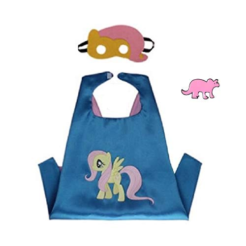 Superhero Cape and Mask Costume for Kids with Pin (Fluttershy) ()