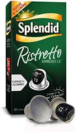 Splendid – Capsule Caffè Espresso Ristretto – Compatibili con Macchine Nespresso – 100 Capsule in Alluminio – Intensità 12