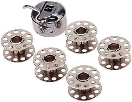 Bobinas de acero inoxidable para máquina de coser, 5 piezas ...