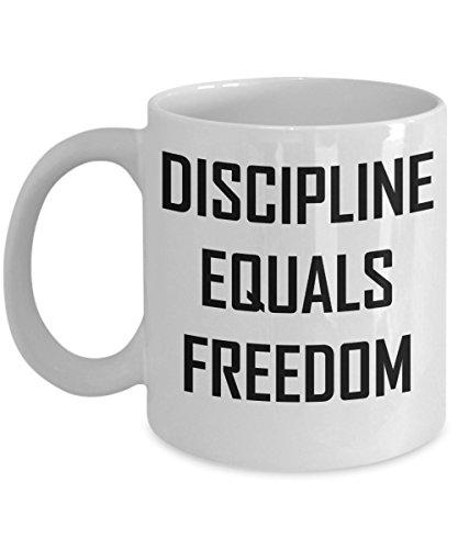 Discipline Equals Freedom Coffee Mug - Inspirational Motivational Gift