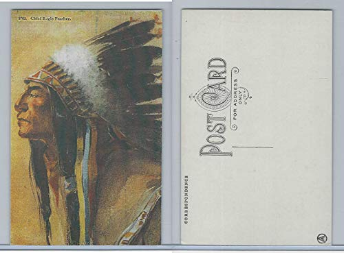 Postcard, Other, H,H.T.C.O, American Indian, 5703 Chief Eagle Feather