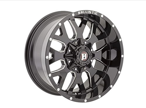 Ballistic 853 Tank 18x9 6x135/6x139.7 -12mm Black/Milled Whe