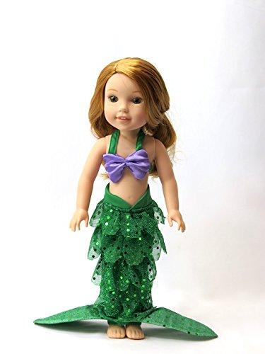 Purple and Green Mermaid Halloween Costume   Fits 14