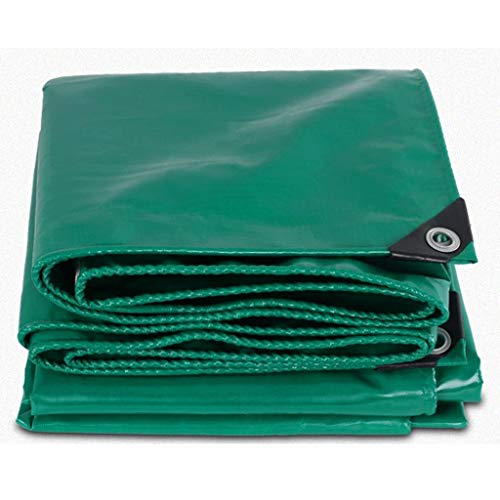 Thickened Poncho Tarpaulin Tarpaulin Outdoor Cloth Cover Cargo Awning Cloth Truck Tricycle Truck Tarpaulin (Color : Green, Size : 3x3m)