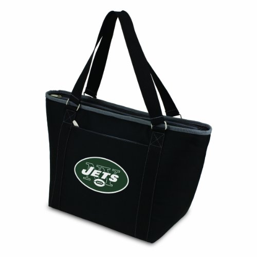 NFL New York Jets Topanga Insulated Cooler Tote, Black