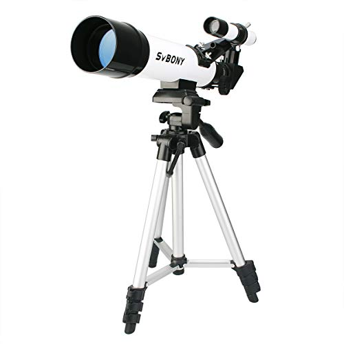 SVBONY SV25 Telescope for Kids Astronomy Beginner Adult 60mm Refractor Telescope FMC Lens Travel Scope with Adjustable Tripod K9mm K20mm Eyepieces and Finder Scope
