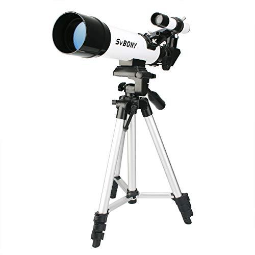 SVBONY SV25 Telescope for Kids Astronomy Beginner Adult 60mm Refractor Telescope FMC Lens Travel Scope with Adjustable Tripod K9mm K20mm Eyepieces and Finder Scope (Best Starter Telescope Reviews)