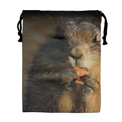 Eating Animal Carrot Prairie Dog Drawstring Bags Party Favors Bags(1 Pack), Personalised Birthday Fabric Party Goodie Bag Gift for Kids Boys & -