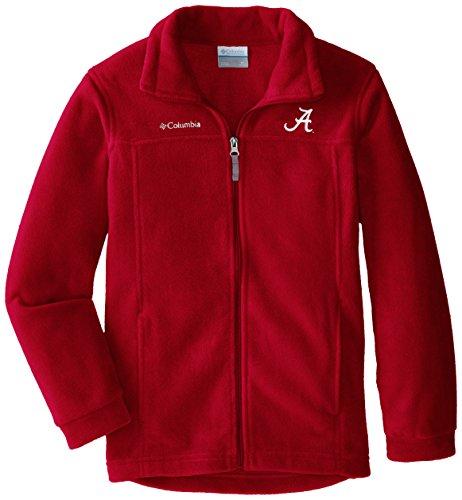 NCAA Alabama Crimson Tide Youth Boys Collegiate Flanker Full Zip Fleece, Red Velvet,