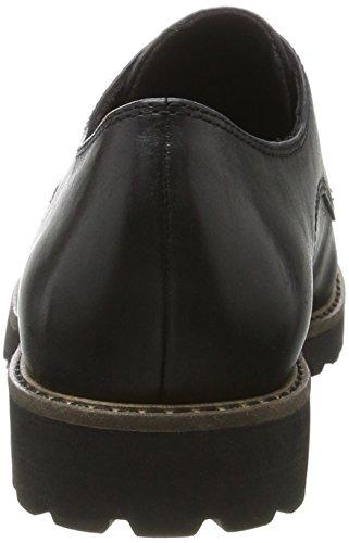 Tamaris Dame 23204 Oxfords Sort (sort Læder) sljsB9wC5