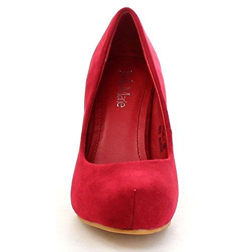 Bella Marie Kylie-1 Womens Classic Styling Comfort Stiletto Heel Dress Pump Red INp0P7