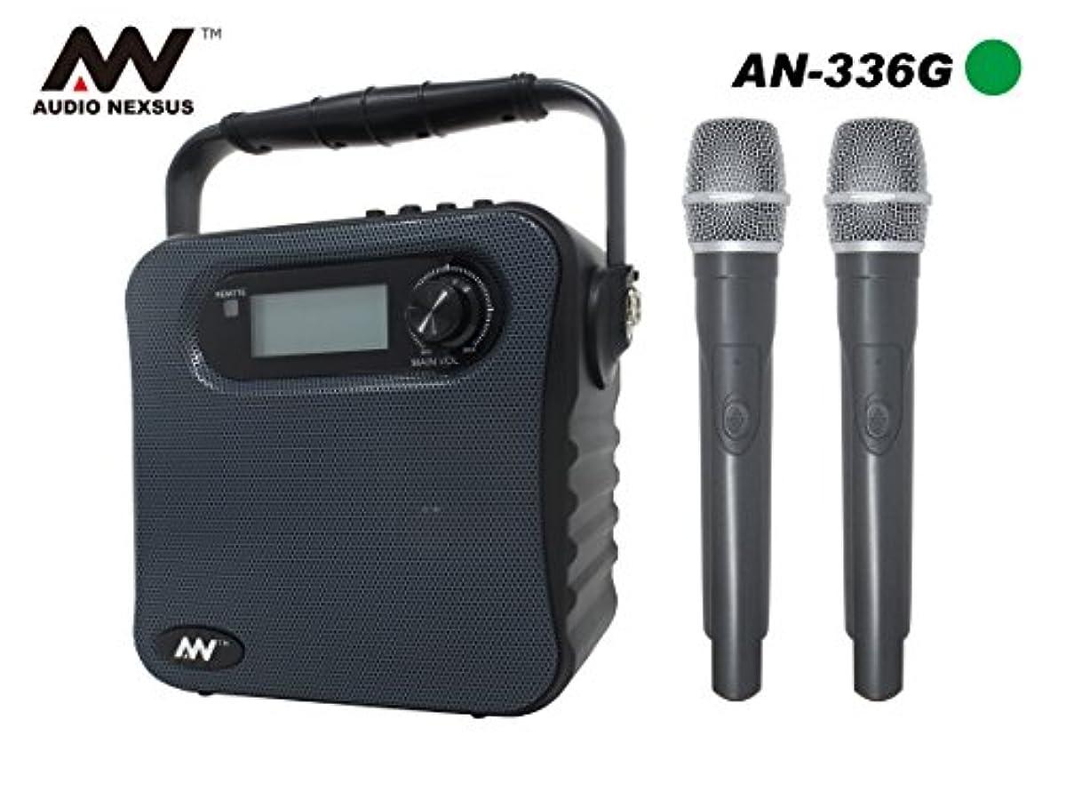 [해외] 녹음 기능 첨부 와 배터리 내장 포터블 wireless 스피커&핸드 마이크2개 세트 무선 마이크 스피커 세트 확성기 앰프 내장 스피커 회의 이벤트 대응 마이크 입력부 PE-W51SB 400-SP055 출력30W AUDIO NEXSUS AN-336 주파수B41&B42