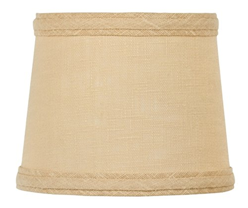 Modern Single Light Drum (Upgradelights Sand Linen 6 Inch Drum Style Clip On Chandelier Mini Lamp)