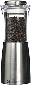 T and G Woodware CrushGrind Apollo Pepper Mill Acrylic and Stainless Steel, Clear/Silver