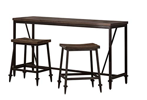 - Hillsdale Furniture 4236CB Trevino 3 Piece Counter Height Dining Set Brown
