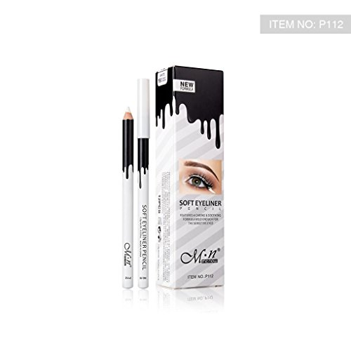 Top White Eyeliner Pencil Cosmetic Matte Brighten Pen 12pack