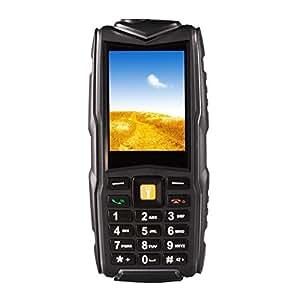 Generic F8 Triple Proofing Phone, Dual SIM, IP68 Waterproof Shockproof Dustproof, 2.4 inch, SC6531CA Chipset, 21 Keys, LED Flashlight, FM, TF, Bluetooth(Black)