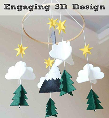 Baby Room Decorations Clearance , Boys/Girls Baby Crib Mobile Woodland Night Nursery Mobile Decoration Felt by Little Story
