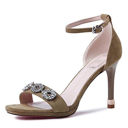 GAOLIM Heel Shoes Sandalias Tacones Home Alta Diario Verano De Mujer Zapatos verdeUn De El wIgSxwX