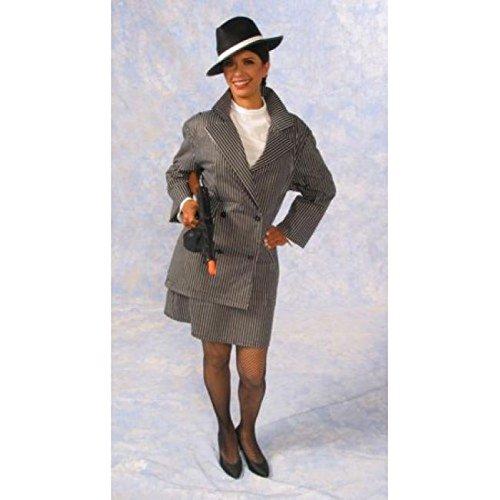 Alexanders Costumes Women's Gangster Female, Black, Large -