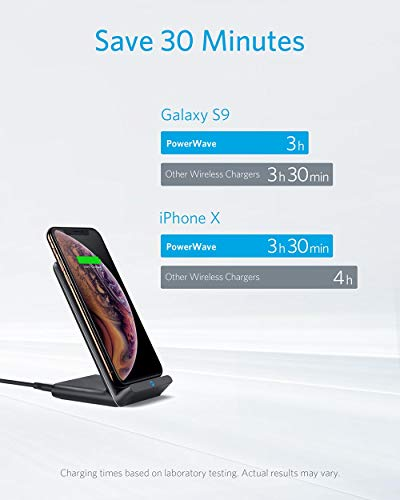 Anker-Fast-Wireless-Charger-10W-Wireless-Charging-Stand-Qi-Certified-Compatible-iPhone-XRXs-MaxXSX88-Plus-Fast-Charging-Galaxy-S10S9S9S8S8-and-More-PowerWave-Stand-No-AC-Adapter