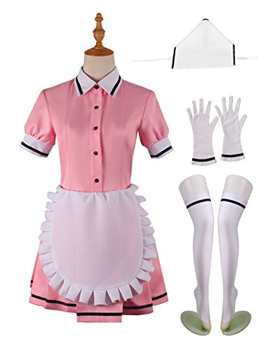 Wish Costume Shop Blend-S Anime Uniforms Cosplay Costumes Full Set (XXL, Pink) for $<!--$45.48-->