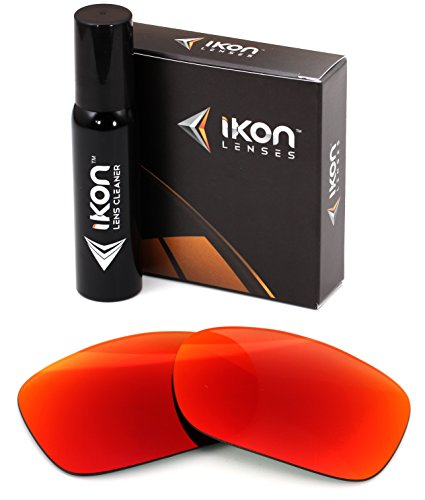 IKON LENSES Polarized Compatible Replacement for Oakley Twoface (OO9189) Sunglasses - + Red Mirror (Polarized) (Oakley Two Face Clear Lenses)