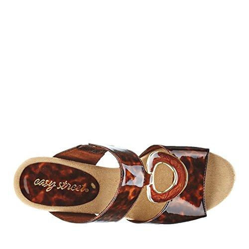 Easy Street Ever Donna Pelle sintetica Sandalo con la Zeppa