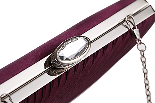 Folding Mini Evening Small Cloth Square Bag JESSIEKERVIN Clutch Purple Bag Bag Diamond Party cx8OncR