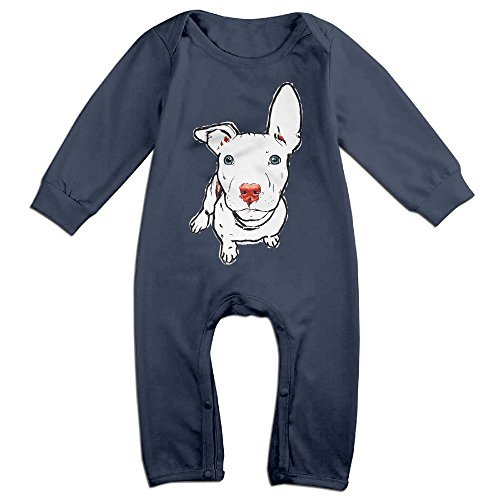 Pit Bull Dog Baby Cool Jumpsuit Romper Climbing Clothes Navy